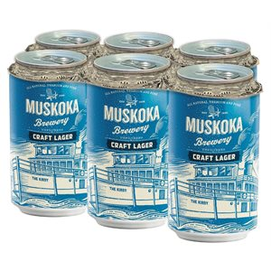 Muskoka Craft Lager 6 C