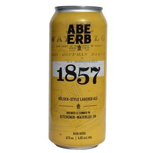 Abe Erb Brewing 1857 Kolsch Style Lagered Ale 473ml