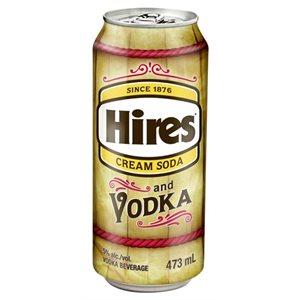 Hires Cream Soda & Vodka 473ml