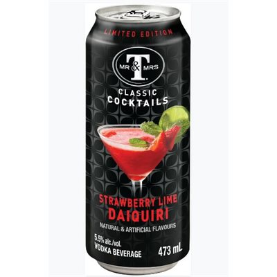 Mr & Mrs T's Strawberry Lime Daiquiri 473ml