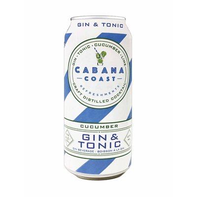 Cabana Coast Cucumber Gin & Tonic 473ml