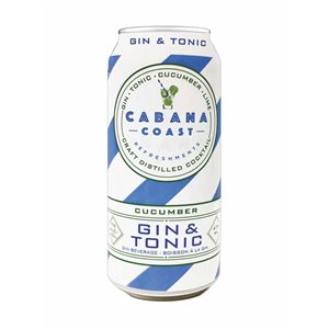 Cabana Coast Cucumber Gin & Tonic 473ml