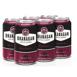 Okanagan Premium Cider Blackberry 6 C