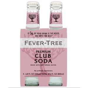 Fever-Tree Soda Water 4 x 200ml