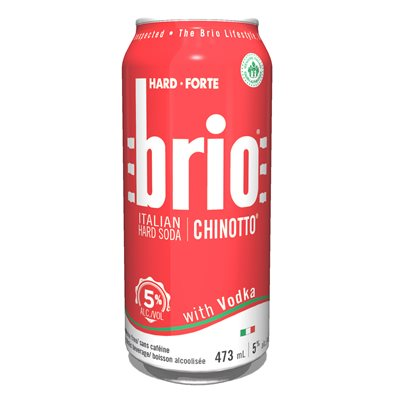 Brio Italian Hard Soda With Vodka 473ml