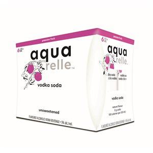 Aquarelle Sparkling Water Passion Fruit 6 C