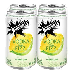 Black Fly Vodka Fizz Lemon Lime Soda 4 C