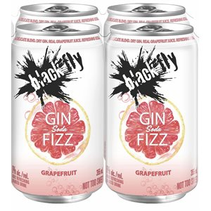 Black Fly Gin Fizz Grapefruit Soda 4 C