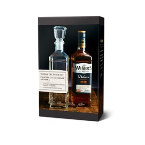 JP Wisers Deluxe Canadian Whisky Gift Pack With Decanter 750ml