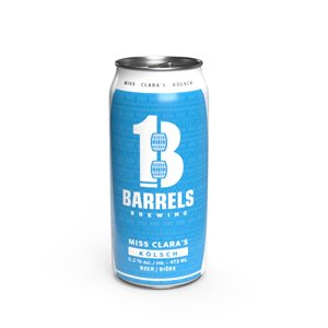 13 Barrels Brewing Miss Clara's Kolsch 473ml