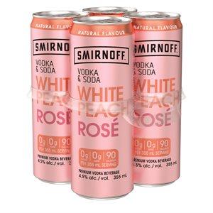 Smirnoff Vodka & Soda White Peach Rose 4 C