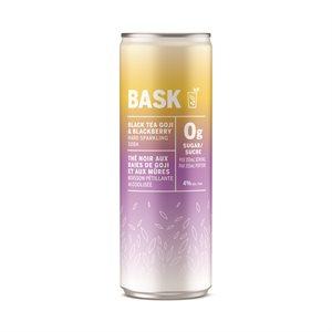Bask Goji & Blackberry Hard Sparkling Black Tea 355ml