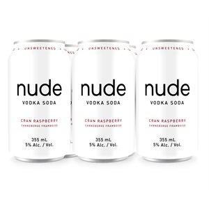 Nude Vodka Soda Cranberry Raspberry 6 C